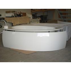 Eck-Badewanne Standard-Weiß Größe  175x110